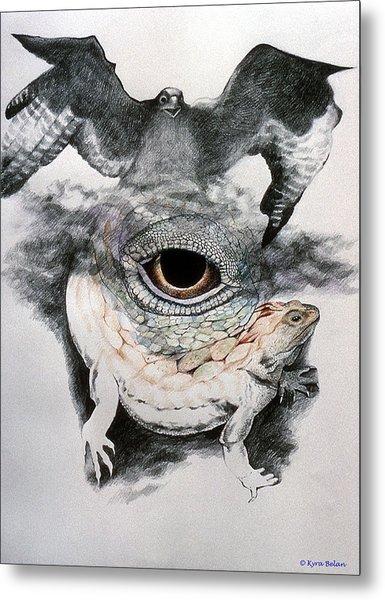 The Eye Of Power Metal Print