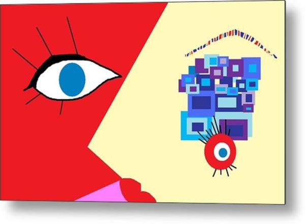 The Eyes Meet Metal Print by Miriam Lopez