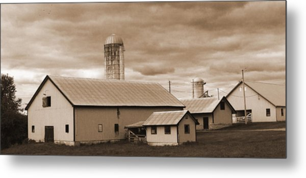 The Farm Metal Print by Barry Jones