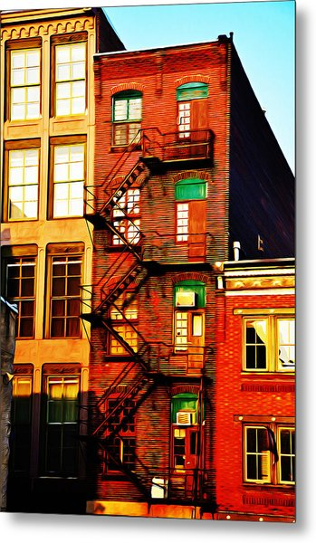 The Fire Escape Metal Print