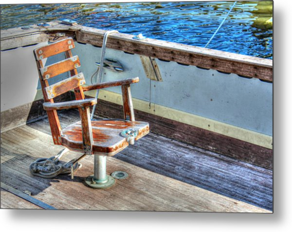 The Fishing Chair Metal Print