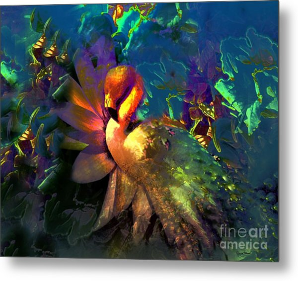 The Flamingo Of My Dreams Metal Print by Doris Wood