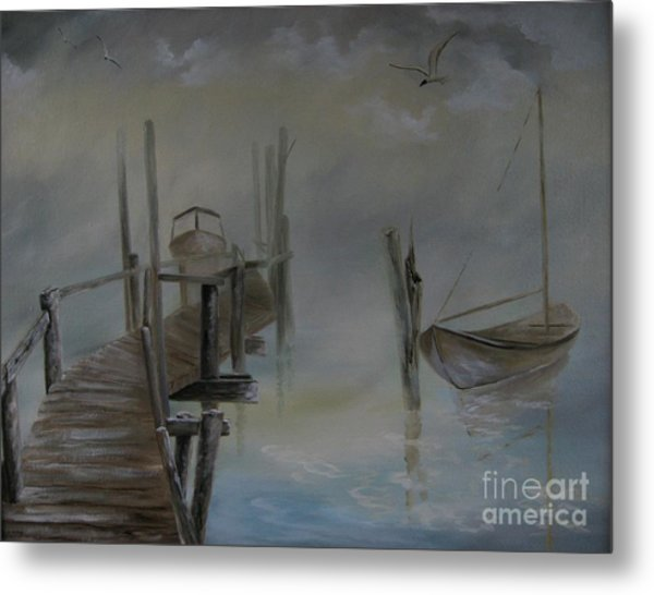 The Fog Metal Print