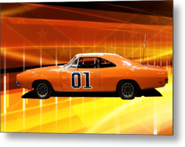 The General Lee Metal Print