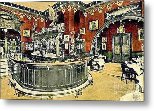 The Gentleman's Cafe And Bar In The Hotel Navarre Metal Print by Dwight Goss