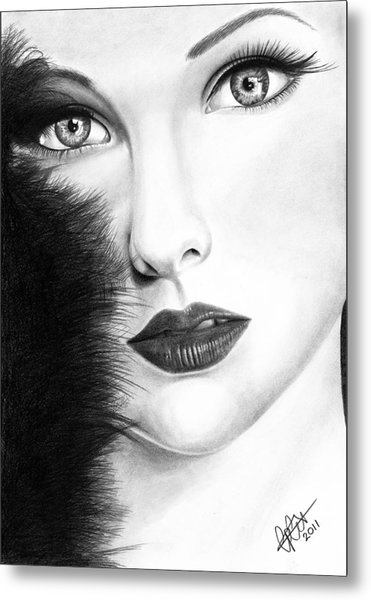 The Girl With Stars In Her Eye's Metal Print
