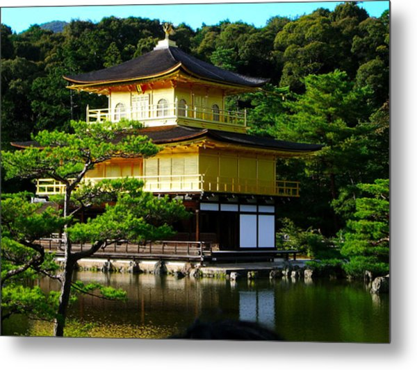 The Golden Temple In Kyoto Metal Print