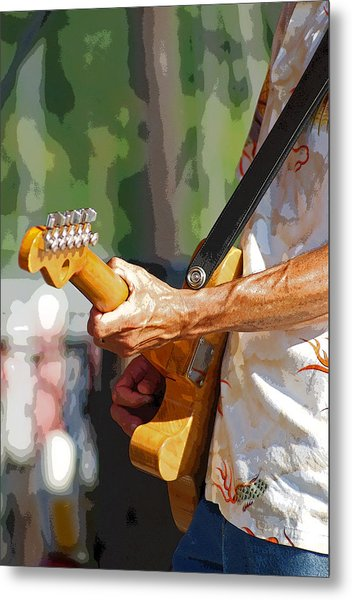 The Guitar Player Metal Print by Margie Avellino