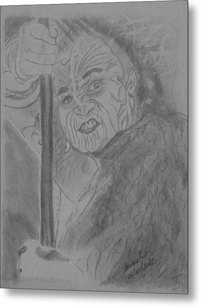 The Haka Dancer Metal Print