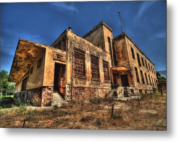 The Haunted Factory Metal Print by Stamatis Gr
