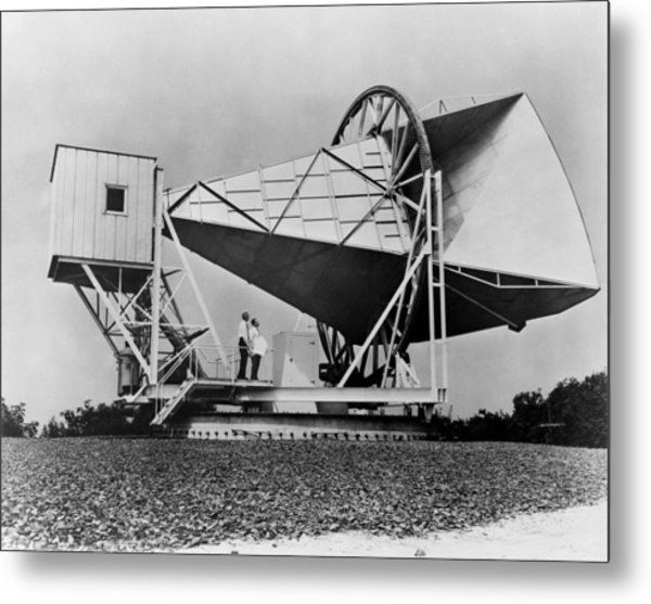 The Horn Reflector Antenna At Bell Metal Print by Everett