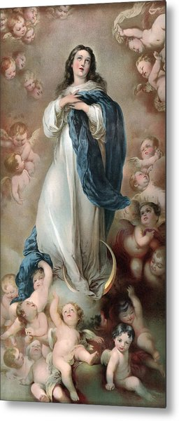 The Immaculate Conception, Depicting Metal Print by Everett