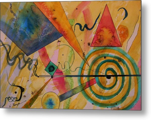 The Kandinsky Swirl Metal Print by Warren Thompson