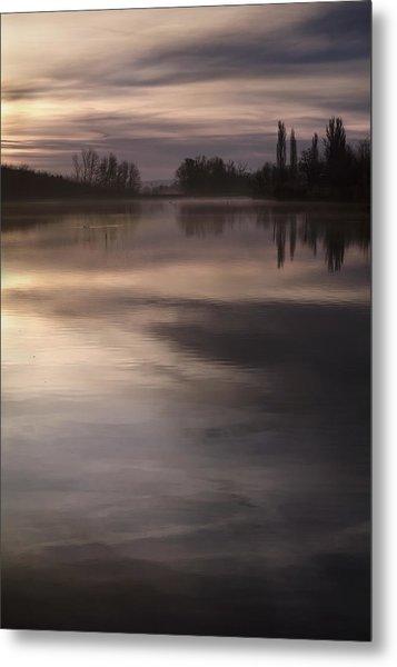 The Lake Metal Print by Akos Kozari