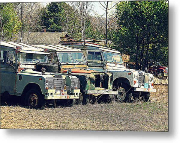 The Land Rover Graveyard Metal Print