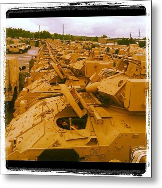The Life Of Mechanized Infantry Metal Print