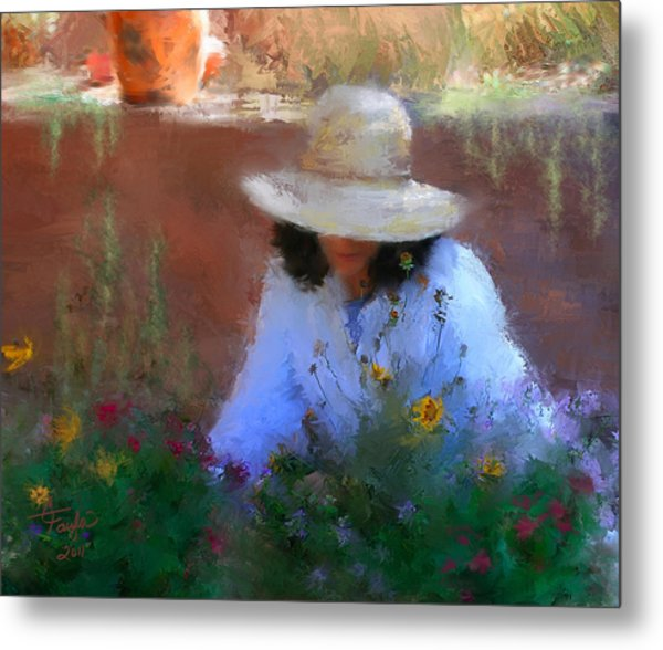 The Light Of The Garden Metal Print