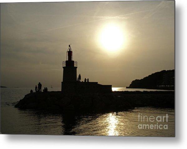The Lighthouse - Sanary-sur-mer Metal Print by Rod Jones