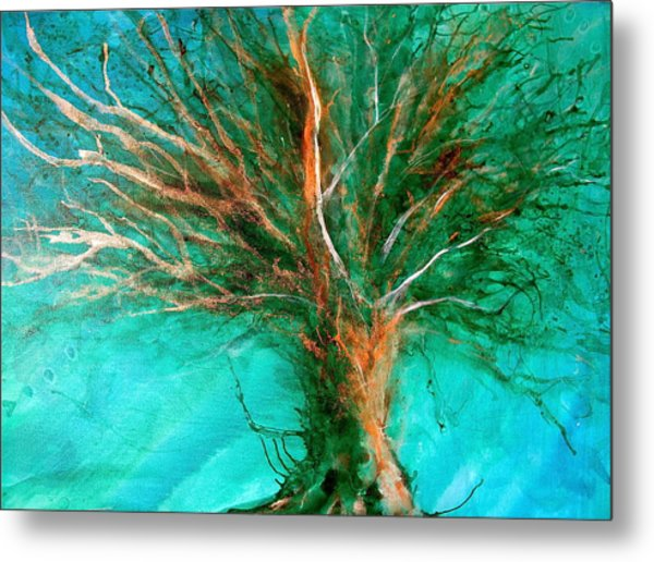 The Lone Tree Metal Print by Heather Matthews