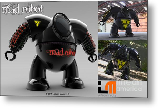 The Mad Robot Metal Print