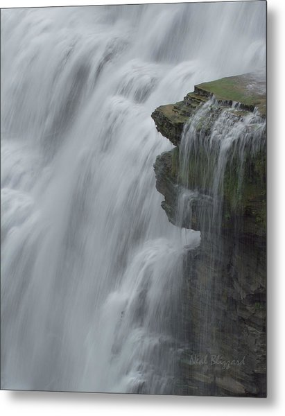 The Middle Falls I Metal Print by Neal Blizzard