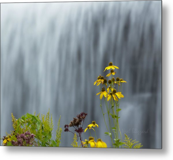 The Middle Falls II Metal Print by Neal Blizzard