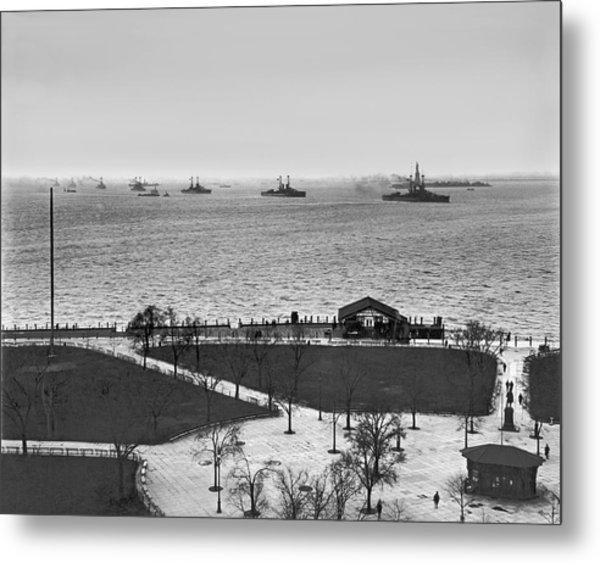 The Navy Fleet In New York Bay Metal Print
