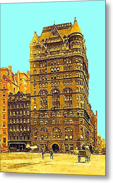The Netherland Hotel In New York City In 1910 Metal Print by Dwight Goss