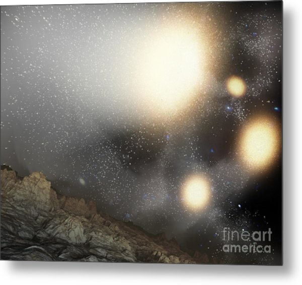 The Night Sky As Seen Metal Print