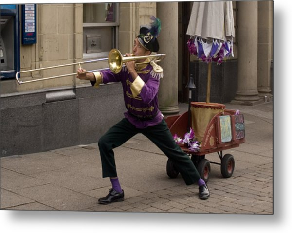 The None Man Band No 2 Metal Print by Peter Jenkins