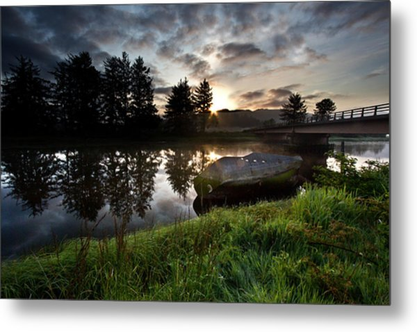 The Old Boat At Sunrise Metal Print