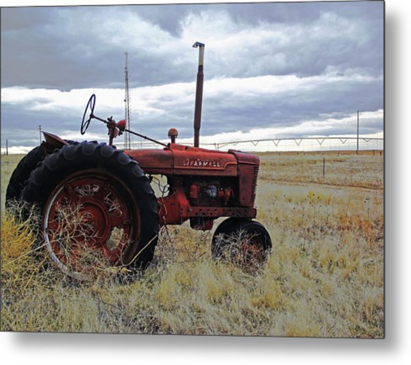 The Old Farmall Tractor 2 Metal Print by Robin Cox