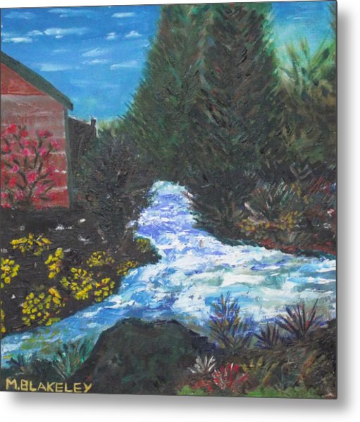 The Old Mill By The River Metal Print