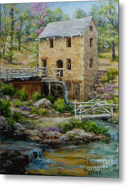 The Old Mill In Spring Metal Print