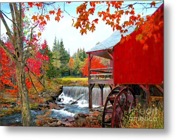 The Old Mill In Weston Vermont Metal Print by Earl Jackson