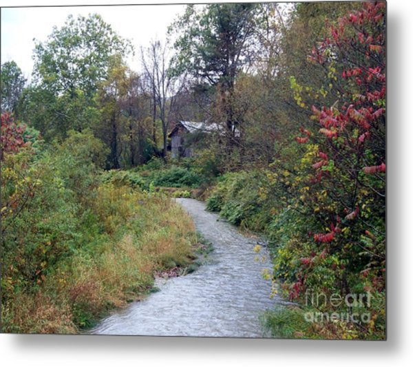 The Old Mill Stream Metal Print