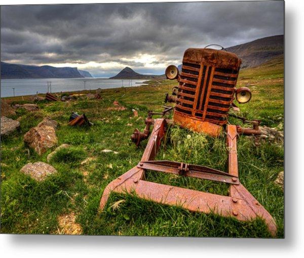 The Old Rust Tractor Metal Print by Arnar B Gudjonsson