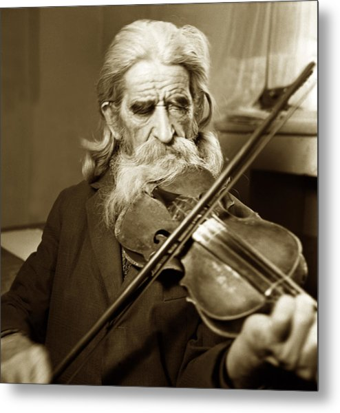 The Old Violonist Metal Print