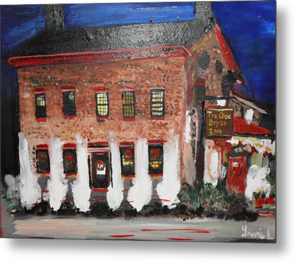 The Olde Bryan Inn Metal Print