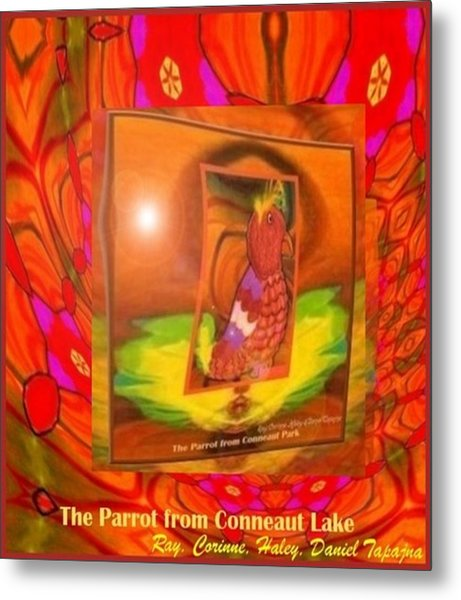 The Parrot From Conneaut Lake Memories Metal Print
