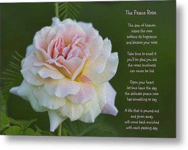 The Peace Rose Metal Print
