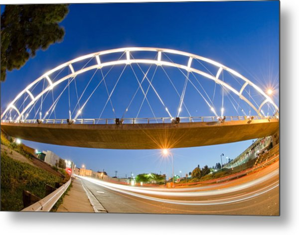 Metal Print featuring the photograph The Pedestrian Bridge by Margaret Pitcher