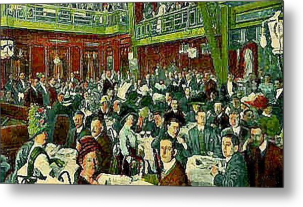 The Peking Restaurant In New York City In 1913   Metal Print by Dwight Goss