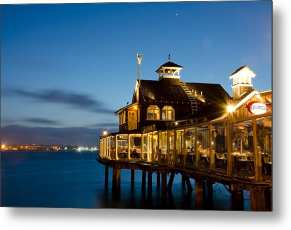 Metal Print featuring the photograph The Pier Cafe by Margaret Pitcher