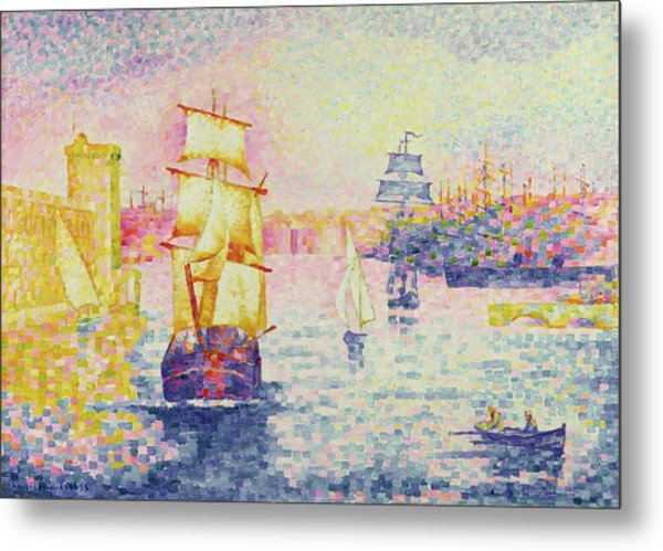 The Port Of Marseilles Metal Print