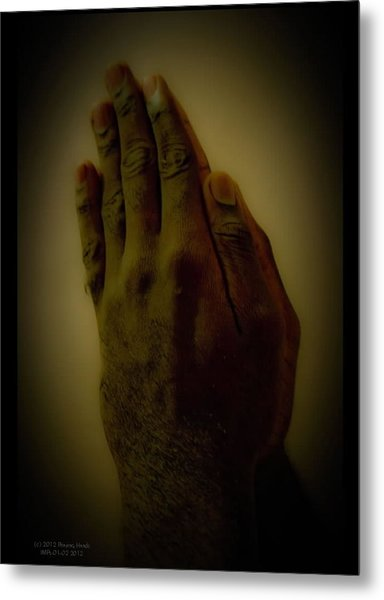 The Praying Hands Metal Print by David Alexander
