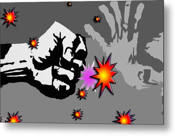 The Punch Metal Print