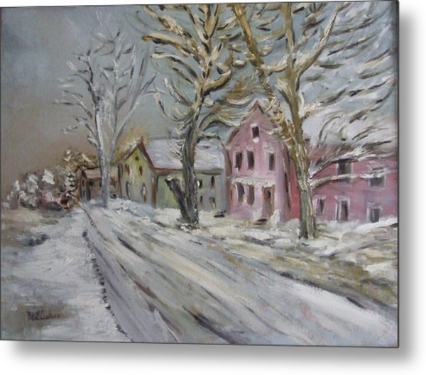 The Purple House Metal Print by Michel Croteau