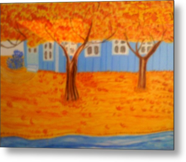 The Rays On Autumn Metal Print by Annette Stovall