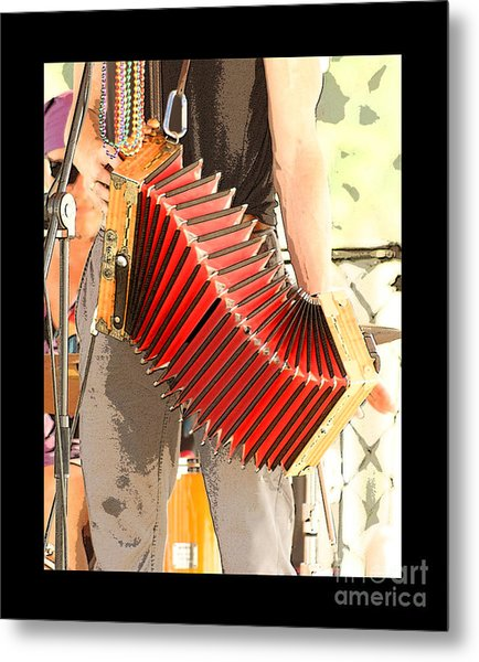 The Red Accordian Metal Print by Margie Avellino